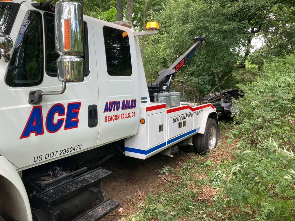 Route 8 south was backed up for more than five hours hours in the area of Exit 23 in Beacon Falls, Conn., after a major crash Monday, Aug. 30, 2021.