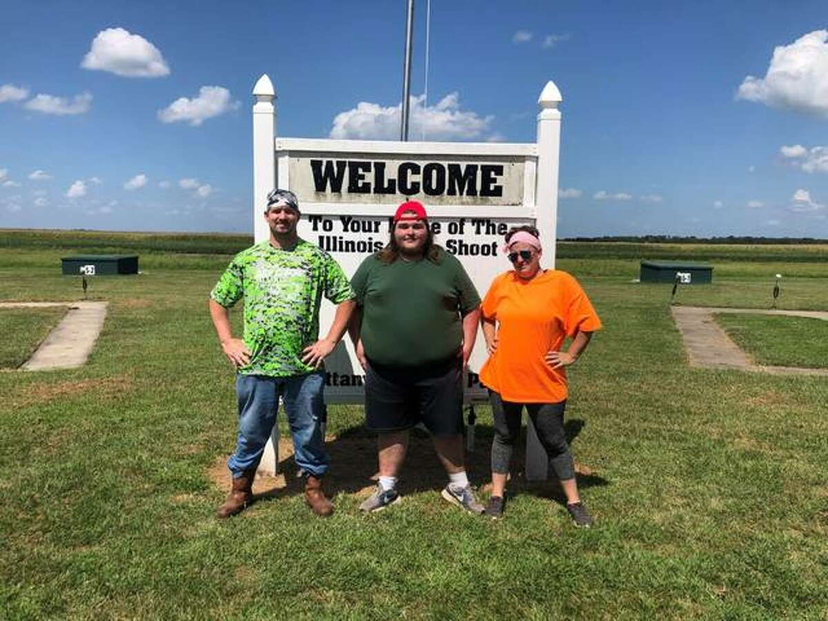 William Yurick, center, earned 2nd place in the shotgun competition for his age group at the 2021 Fall Classic Shoot. Alongside William are shotgun and archery instructors Jeremy and Jessica Little.