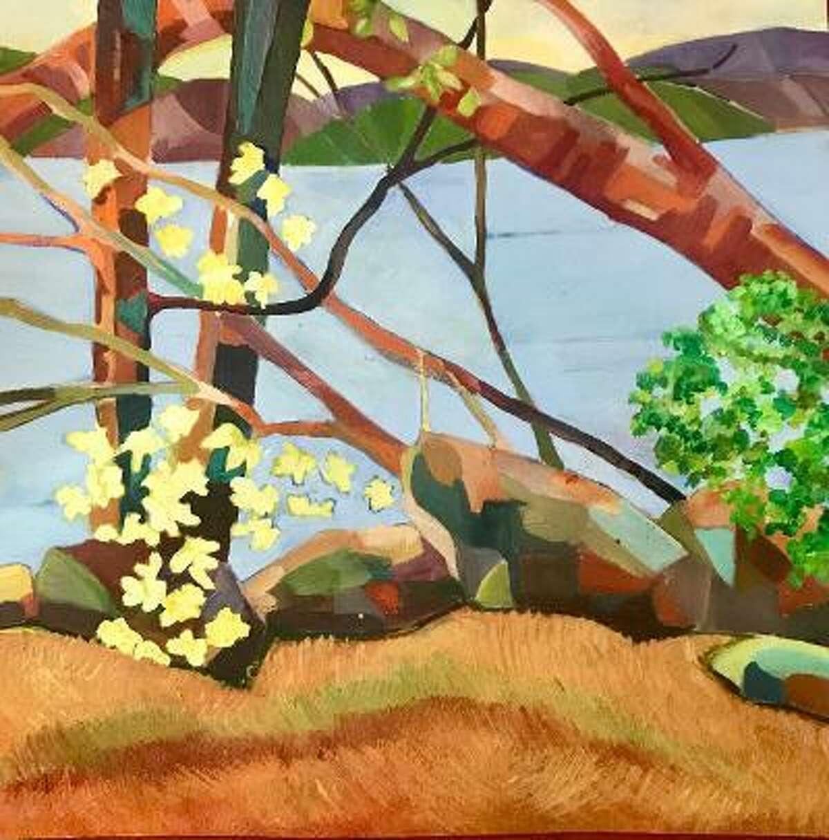 "Shown is ""Deep River Landing"" by artist Claudia Van Nes of Chester"