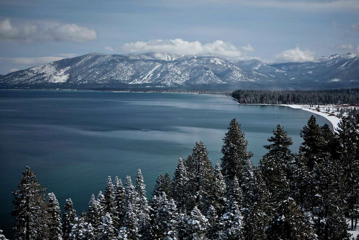 A view of the south shore of Lake Tahoe in February 2012. People are wondering: Will the Caldor Fire smother the attraction of the area?