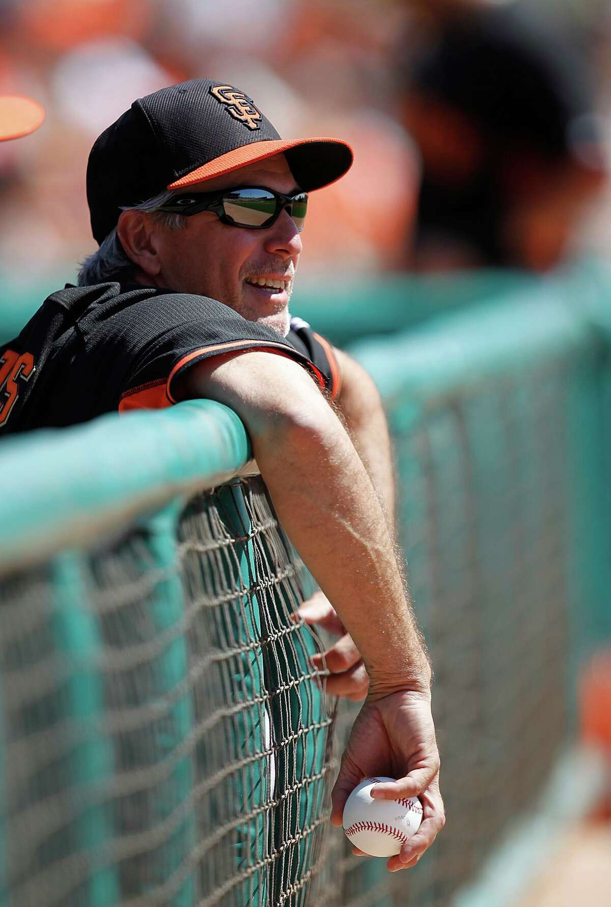 GLENDALE, AZ - MARCH 22: Bench Coach Ron Wotus #23 of the San Francisco Giants looks on before a spring training game against the Chicago White Sox at Camelback Ranch on March 22, 2014 in Glendale, Arizona. The San Francisco Giants defeated the Chicago White Sox 8-5. (Photo by Sarah Glenn/Getty Images)