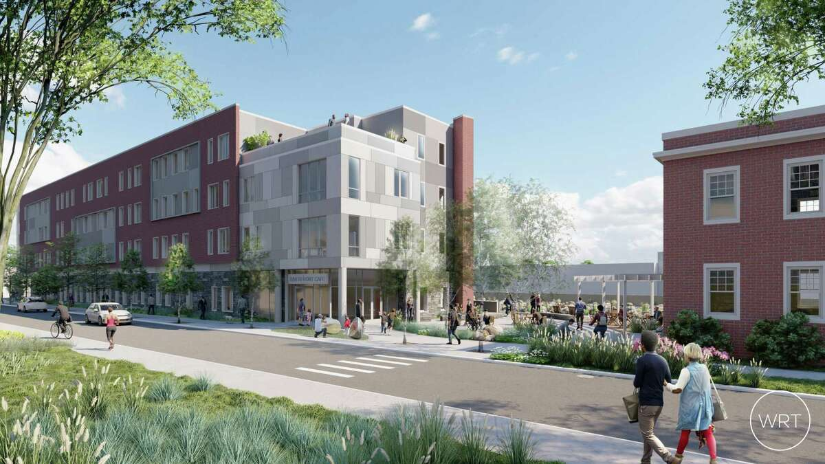 A new apartment building is now under construction on Franklin Street. Pennrose LLC is building a 60-unit building with one and two bedroom apartments and a retail space on the bottom floor.
