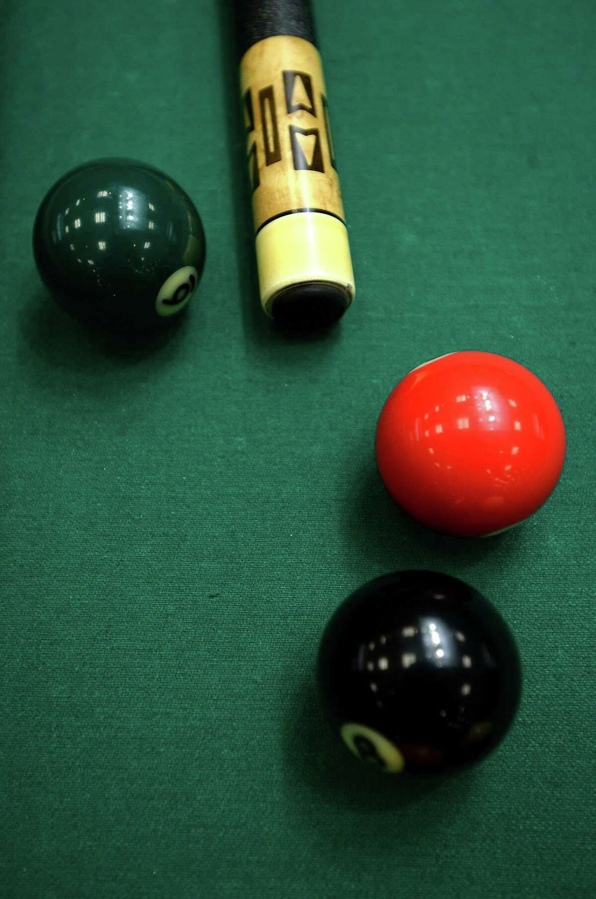 Ernesto Bayaua, of Tomball, came home from Vegas last month $15,000 richer after winning an 8-ball pool championship tournament. Shown here: Competition gets underway during the American CueSports Alliance 2018 ACS Texas State Championships billiards tournament in Port Arthur. Photo taken Wednesday, October 24, 2018 Kim Brent/The Enterprise