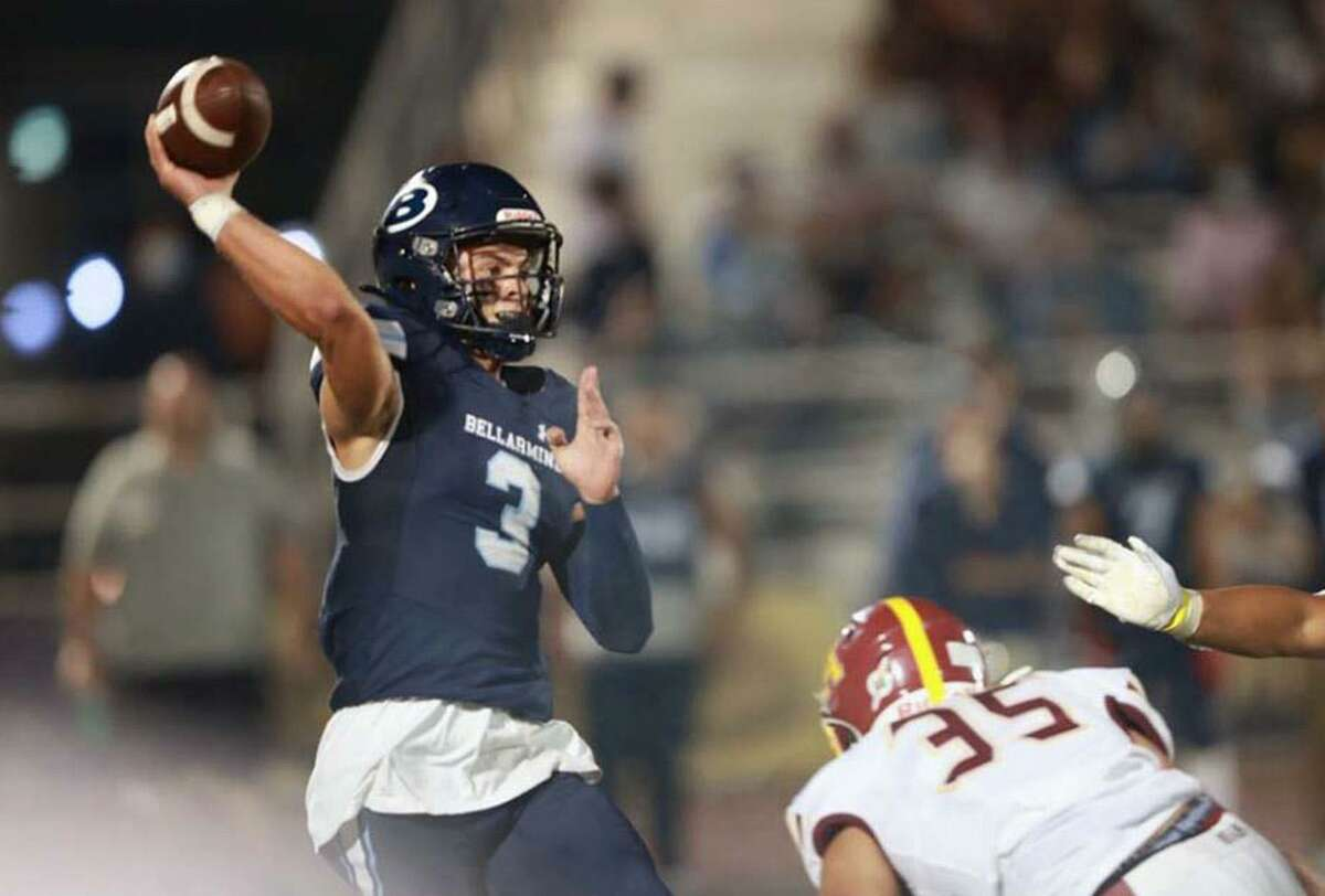 Quarterback Wade Smith and his Bellarmine teammates, unranked in The Chronicle's preseason top 25, are up to No. 14 after a 56-41 defeat of previous No. 8 Menlo Atherton last week.
