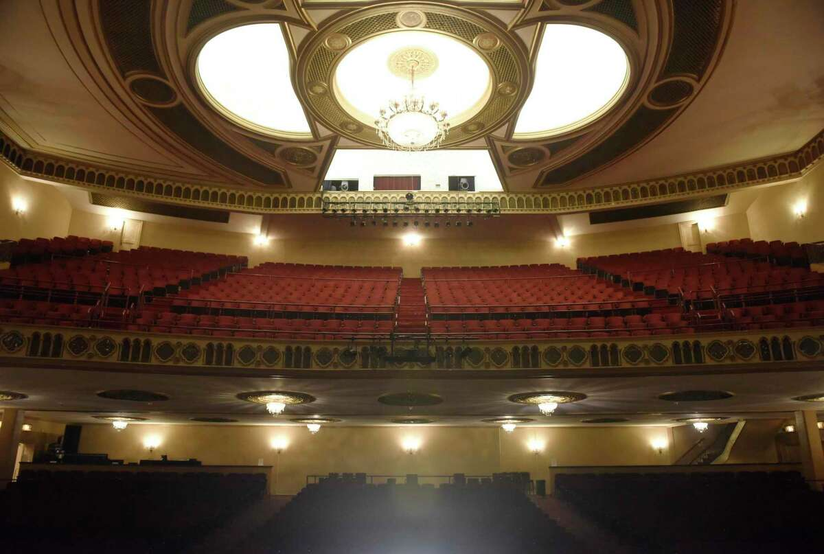 The empty auditorium inside the Palace Theatre in Stamford, Conn., photographed on Wednesday, Sept. 9, 2020. U.S. Sen. Richard Blumenthal, D-Conn., is advocating for legislation that would provide more funding for embattled performing arts venues like the Palace Theatre in Stamford.