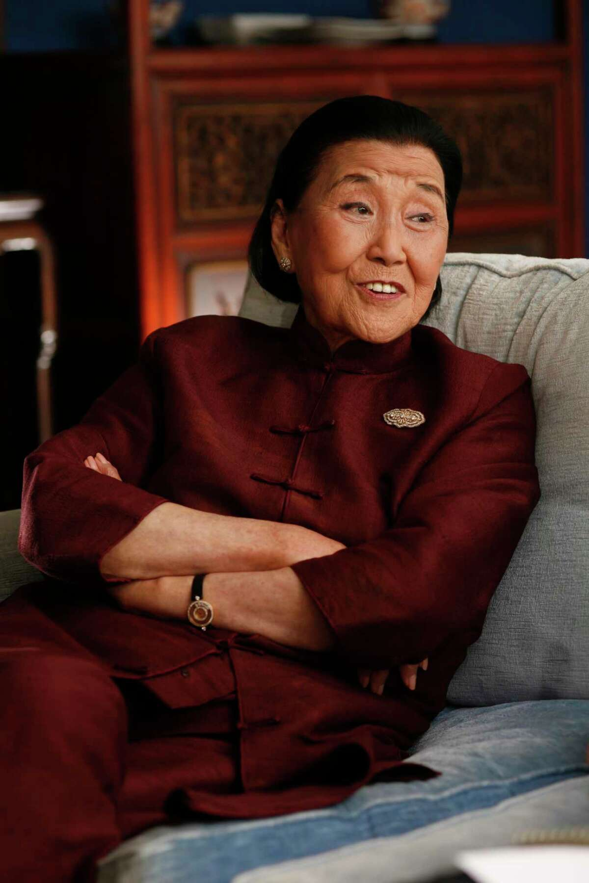 The late restaurateur Cecilia Chiang is shown at her home in Belvedere in 2007.