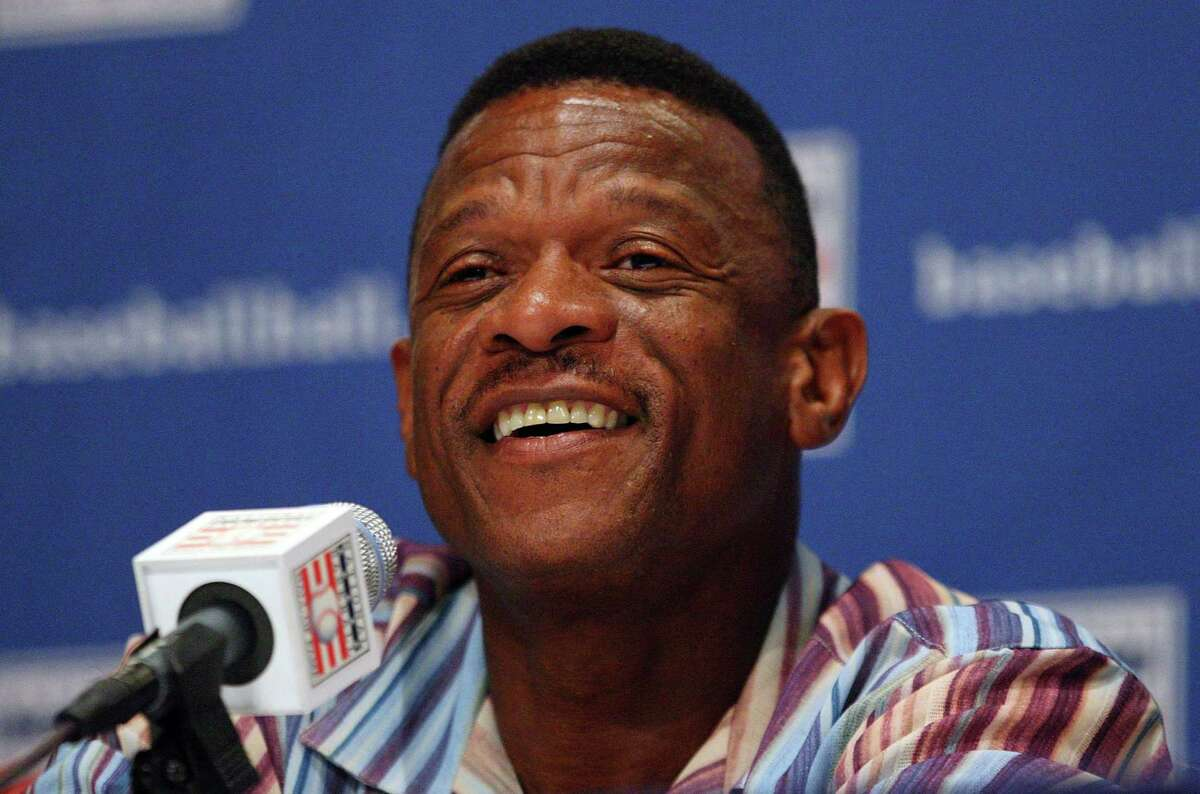 COOPERSTOWN, NY - JULY 25: 2009 inductee Rickey Henderson speaks to the media at the Cooperstown Central School during the Baseball Hall of Fame weekend on July 25, 2009 in Cooperstown, New York. (Photo by Jim McIsaac/Getty Images)