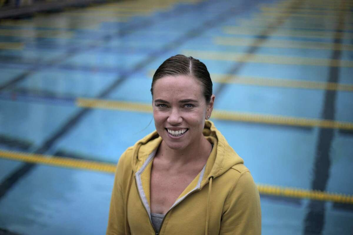 Natalie Coughlin at the Spieker Aquatics Complex at Cal in Berkeley, Calif., on Thursday, May 5, 2016. Gold medalist and former Cal star Coughlin is trying to make her fourth Olympic team. To revitalize her career she switched from longtime coach Teri McKeever to Cal men's coach Dave Durden and is working out with the men.