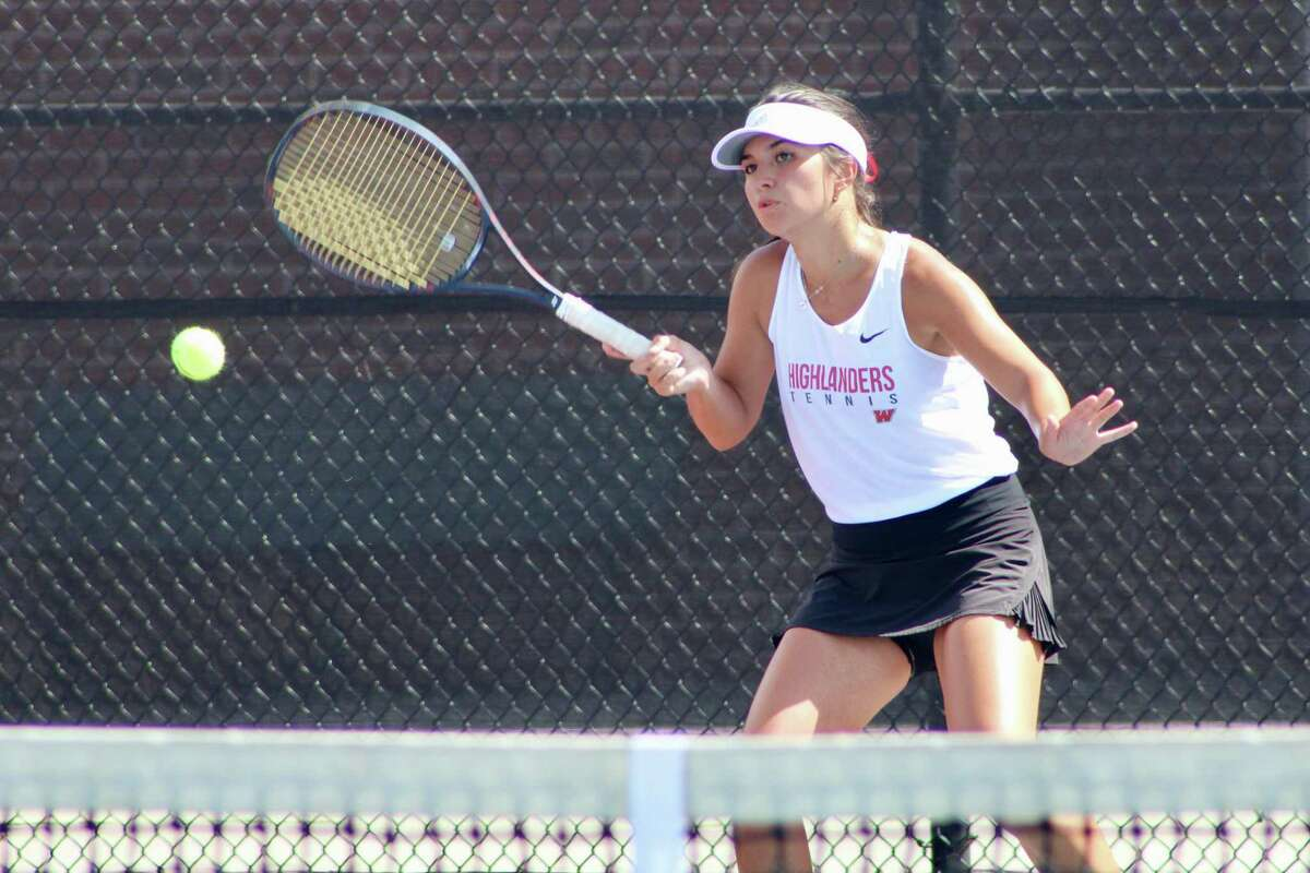 Nicole Kowalchuk competes for The Woodlands in a non-district match against Kingwood on Aug. 31, 2021.