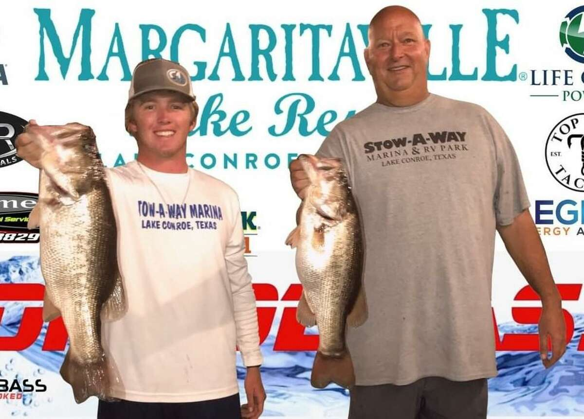 Vince Anderson and Taylor Stewart came in first place in the CONROEBASS Tuesday Tournament with a weight of 10.65 pounds.