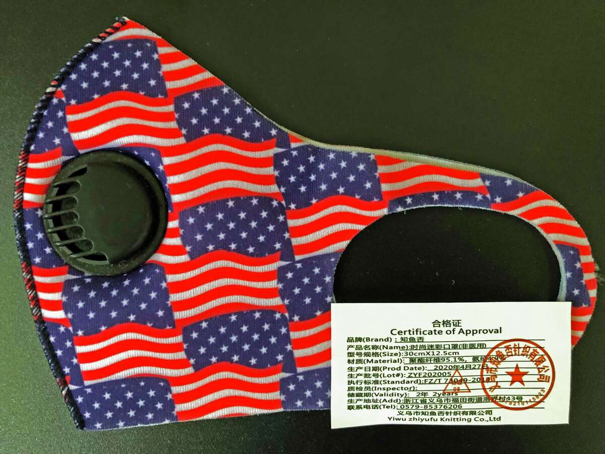 Columnist Joe Pisani bought this patriotic mask, only to discover it wasn't make in America.