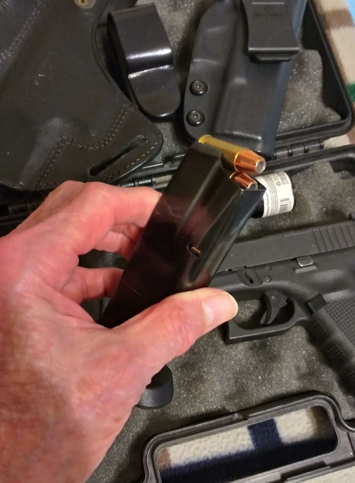 When loading a magazine always be sure that the bullet is loaded so the tip of the bullets point toward the chamber of the firearm.
