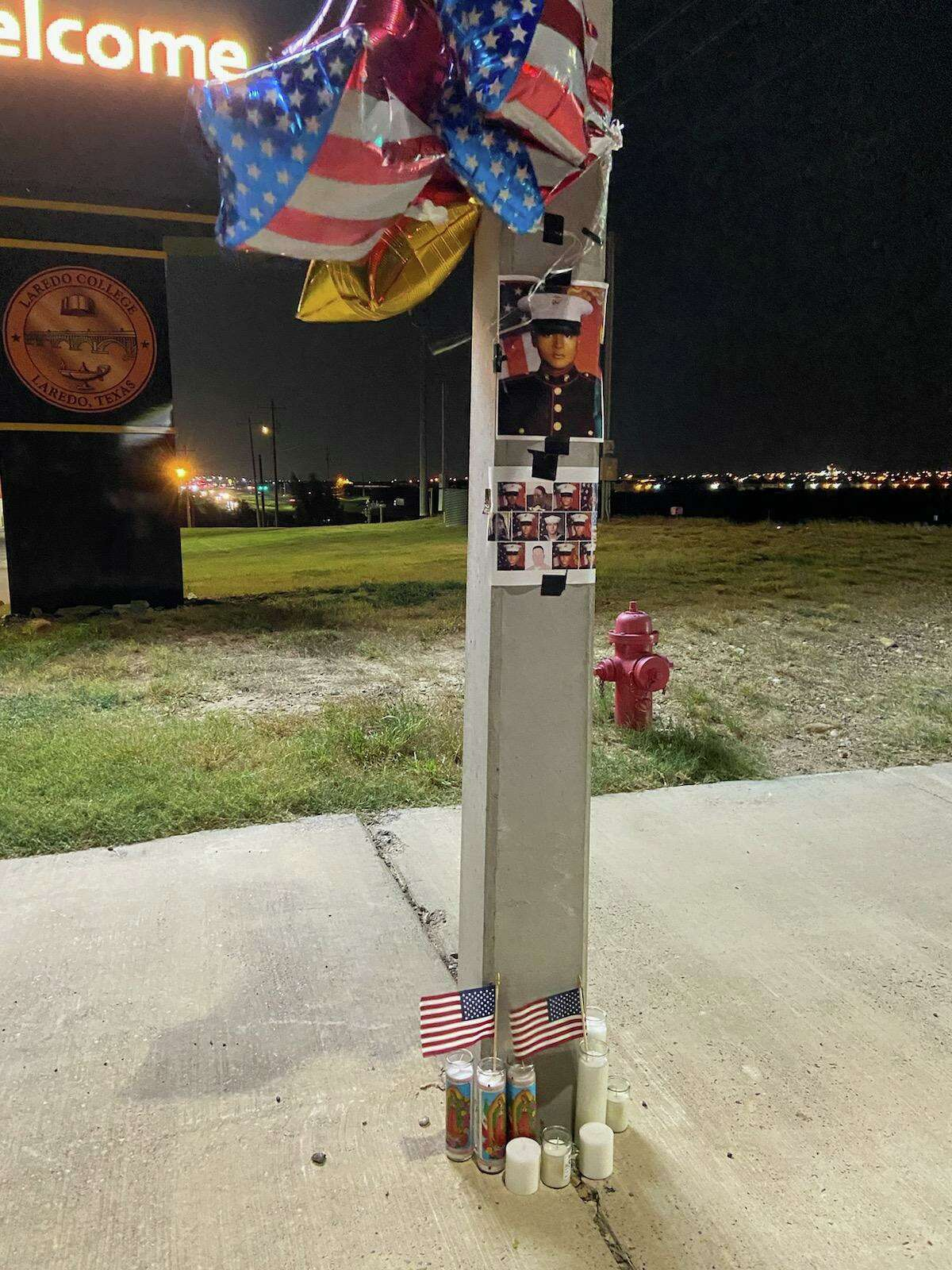 Locals gathered at Laredo College to remember Laredo's Lance Cpl. David Lee Espinoza after he was killed in the attack in Afghanistan last week.
