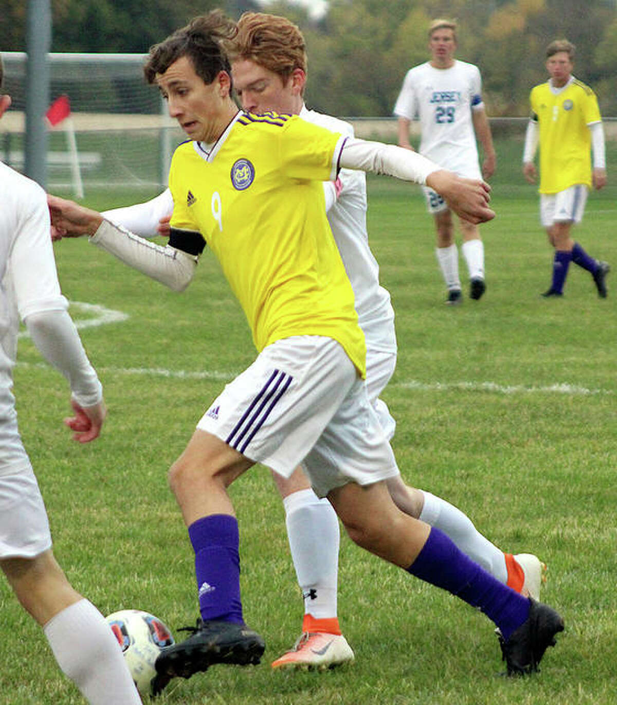 Civic Memorial's Parker Scottberg dished out three assists in his team's 10-1 victory over Metro-East Lutheran Tuesday.