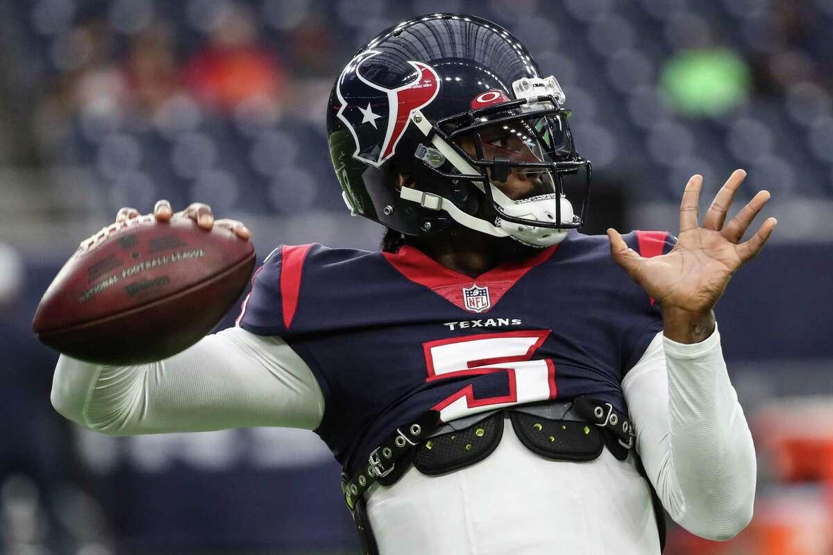 Texans quarterback Tyrod Taylor enters his 11th pro season with 47 starts, six fewer than Deshaun Watson in a much shorter span.