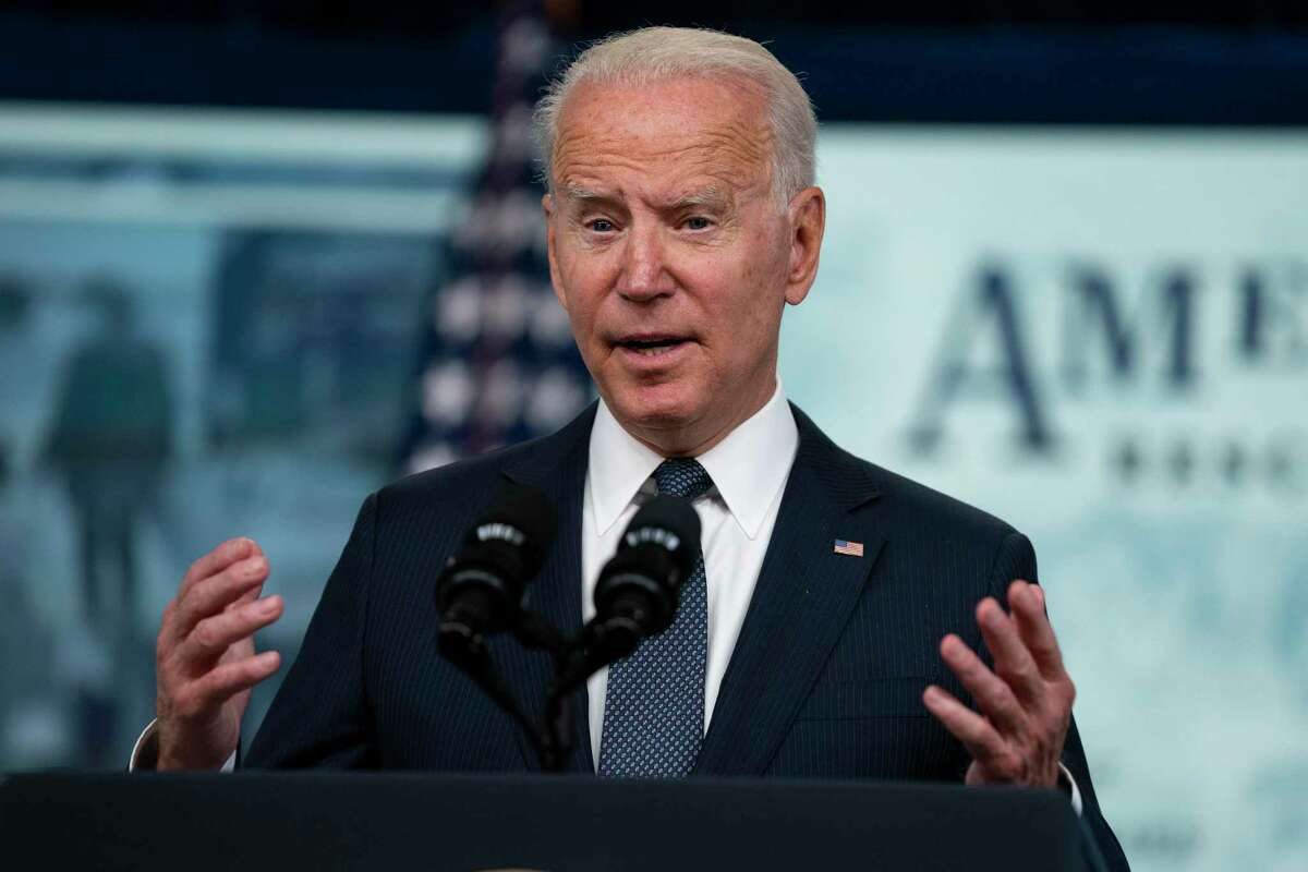 FILE - In this July 15, 2021, file photo President Joe Biden speaks in the South Court Auditorium on the White House complex in Washington. (AP Photo/Evan Vucci, File)