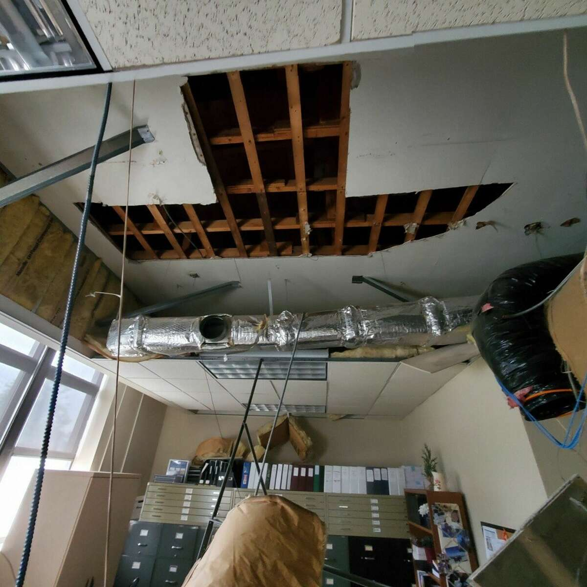 East Greenbush town clerk's office after ceiling collapse at Town Hall on Wednesday Sept. 1, 2021.