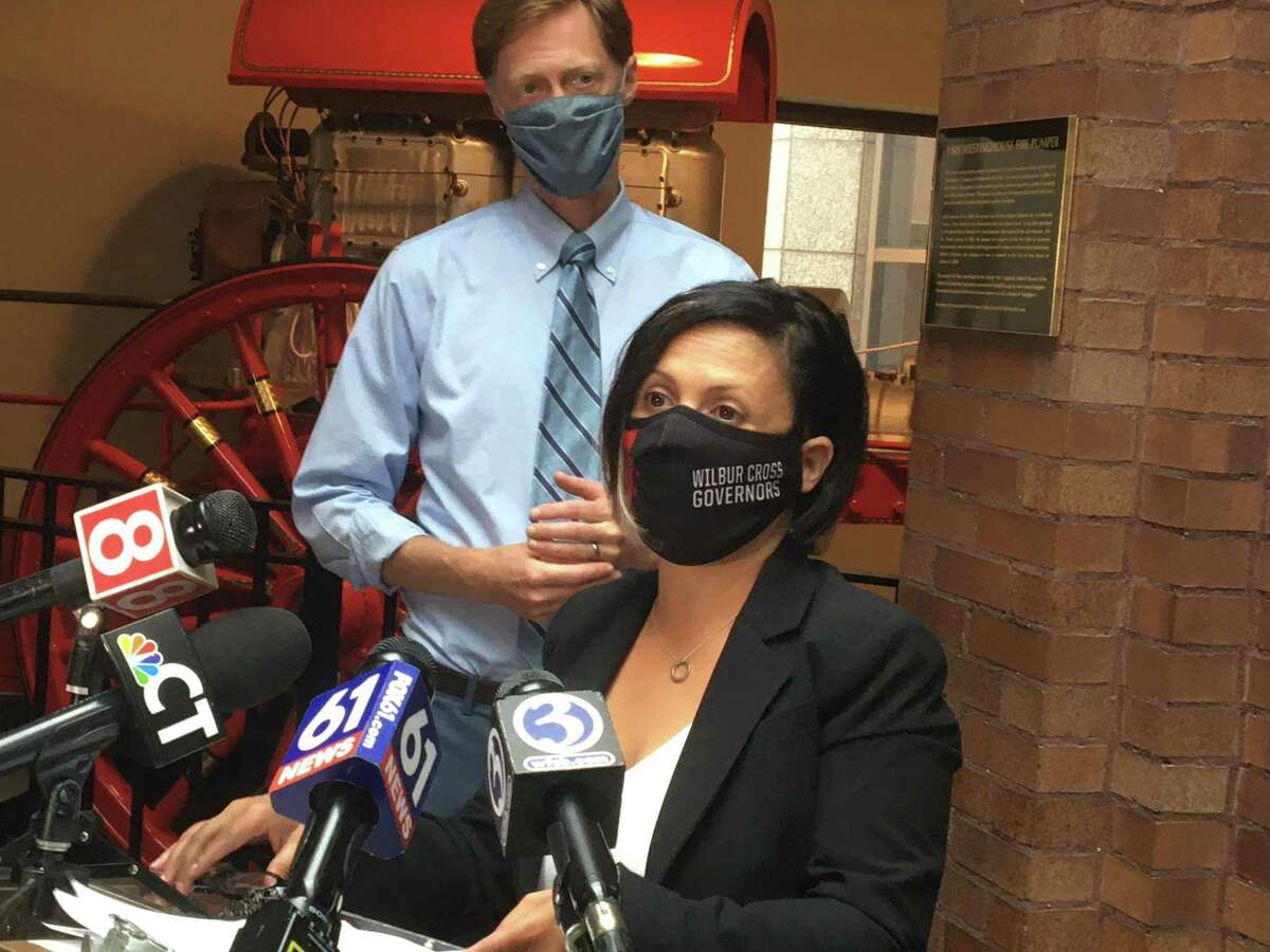 New Haven Mayor Justin Elicker and Health Director Maritza Bond warned that the Health Department is about to begin enforcement inspections related to the city's mask mandate.