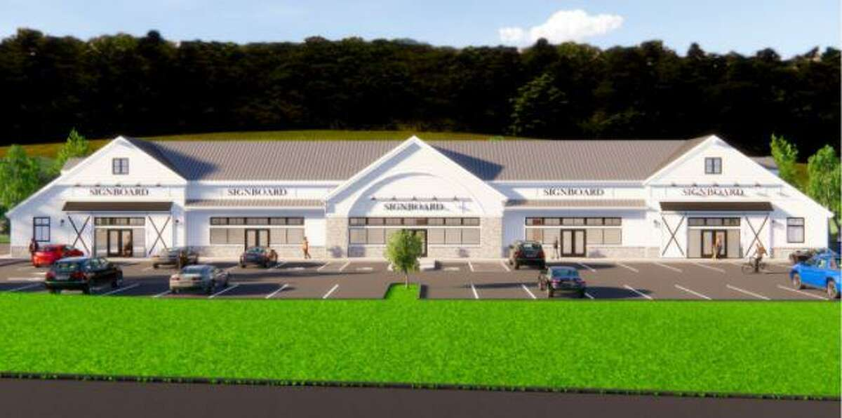 A rendering of Walsh Plaza, an approved restaurant and mini-mall on Route 34 in Sandy Hook.