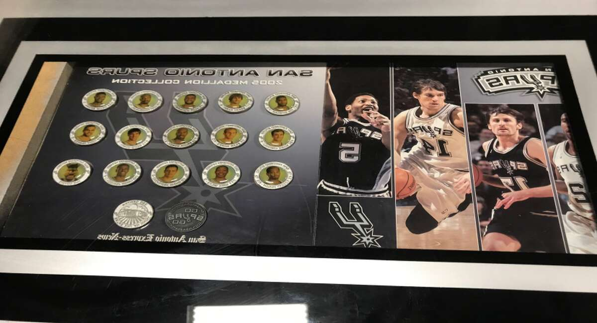 More than 100 items are up for auction by the San Antonio Police Department on Thursday, including Spurs memorabilia.