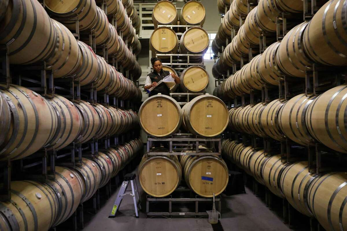 The barrel room at Lewis Cellars in Napa, which was just purchased by the Wonderful Company.