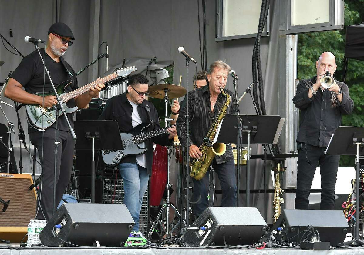 Baseball and music fans enjoyed a special outdoor concert from Bernie Williams and his All-Star Band at The Ridgefield Playhouse on Aug. 29.
