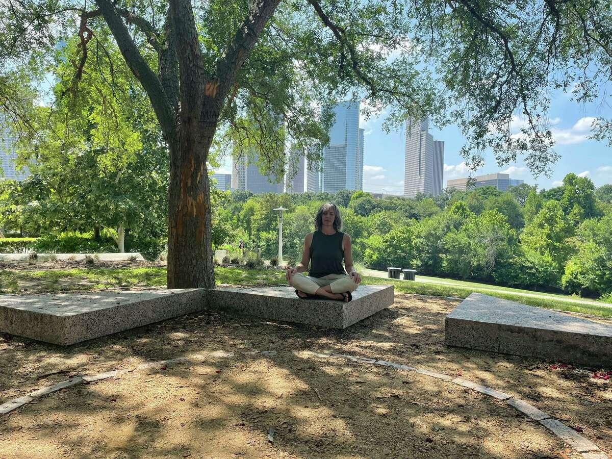 Mindful Morning at Buffalo Bayou Park.