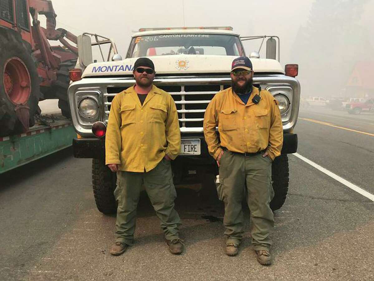 Brothers JC and James Metcalf are firefighters from Montana working the Caldor Fire - they put up a fight for 55 cabins in Strawberry and won.