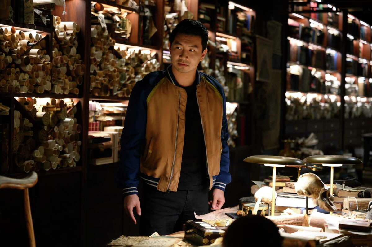 """This image released by Marvel Studios shows Simu Liu in a scene from """"Shang-Chi and the Legend of the Ten Rings."""""""