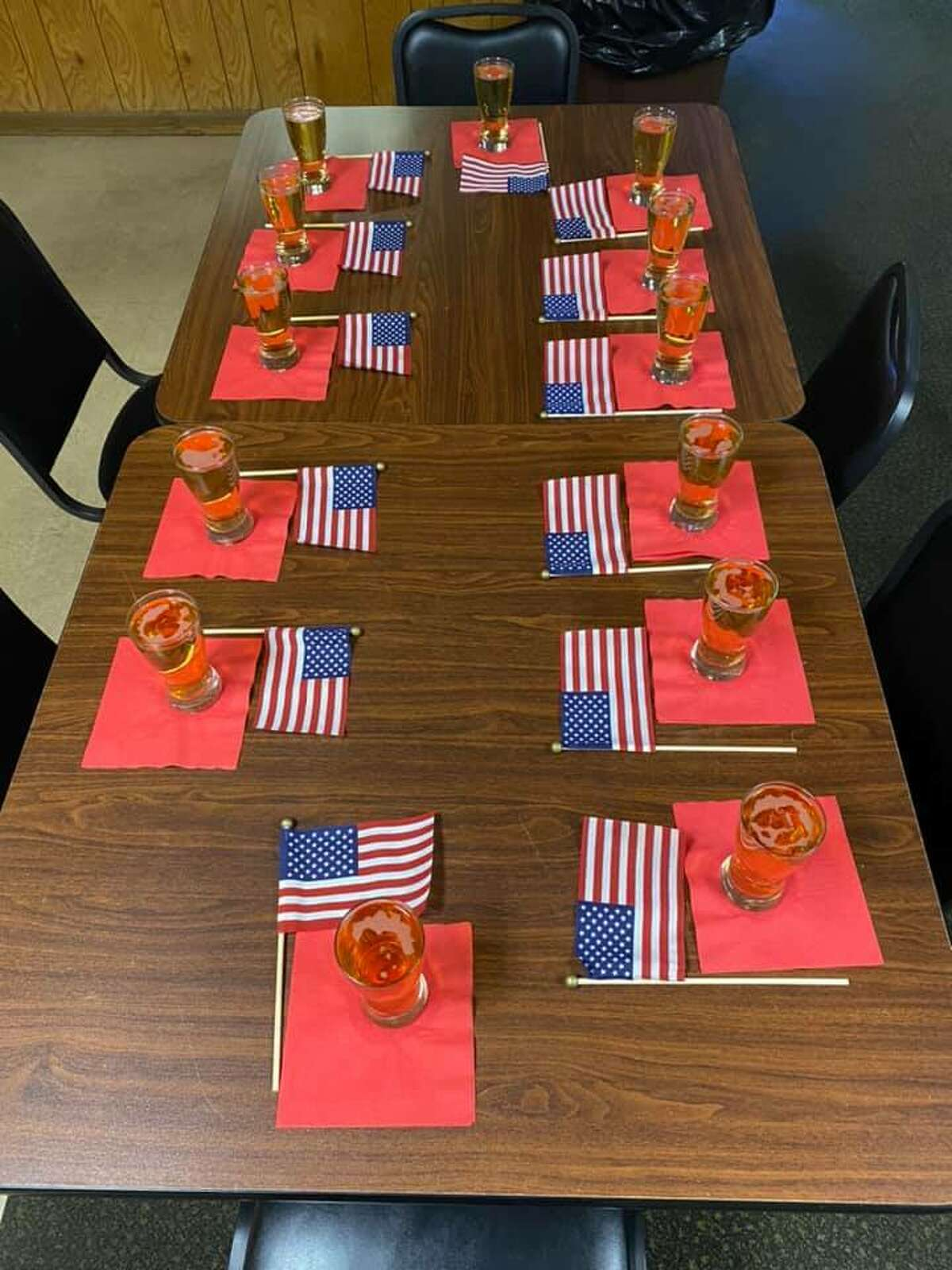 The Morley American Legion Post #554 paid tribute to the recently fallen 13 United States service in what has become a nationwide viral sensation.