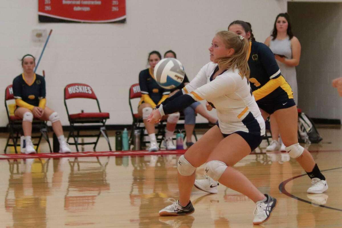 Afterspending last year sitting on the bench, Amanda Kelley has turned into one of Manistee's leaders this year at libero. (File photo)
