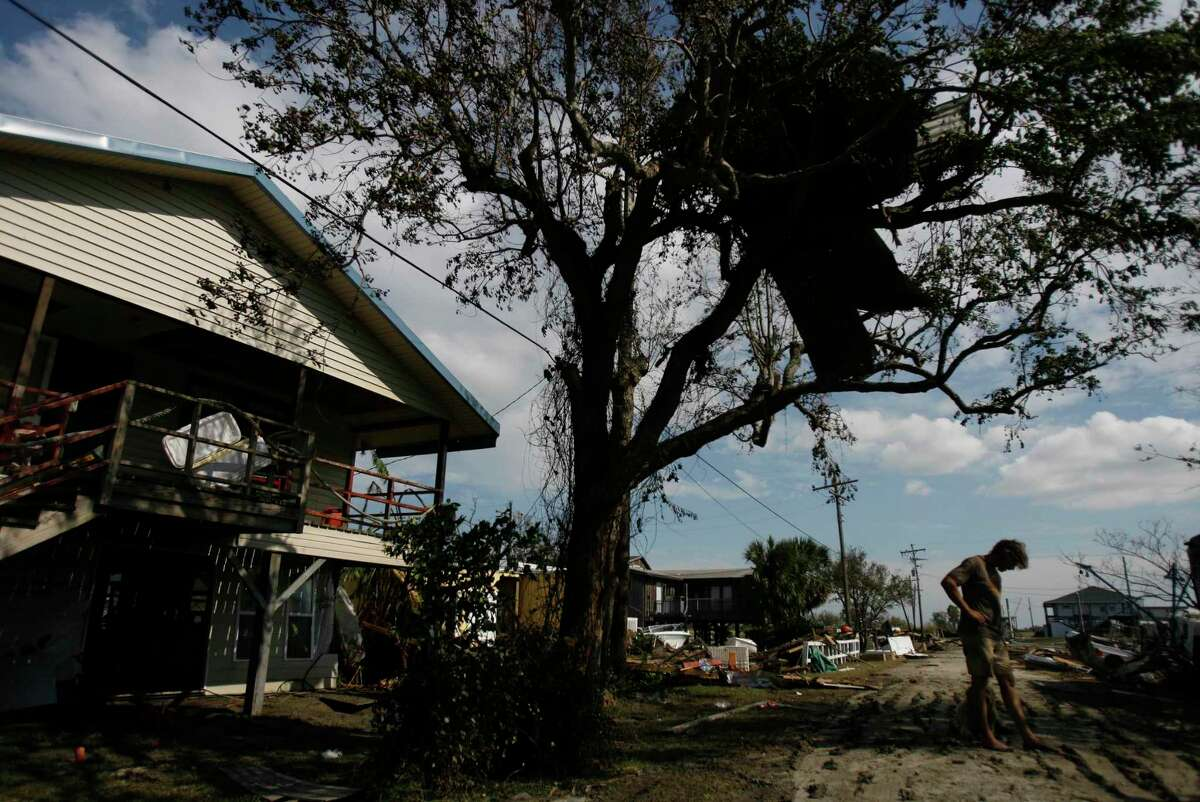 Days after Hurricane Ike in 2008, Norbert Kurtz said the storm took everything and rebuilding on the Bolivar Peninsula would be tough. Kurtz rode out the storm in his wooden house.