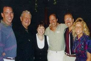 Richard Gabrielle, second from right, with family. From left, nephew David, uncle Bill, sister Connie, brother Gabe, and niece Gabrielle. Richard, a West Haven resident, died when a plane struck the South Tower of the World Trade Center on Sept. 11, 2001.