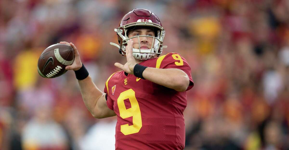 Quarterback Kedon Slovis has thrown for 5,423 yards and 47 TDs in his two seasons with USC.