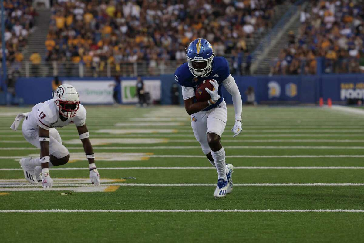 Jermaine Braddock had two receptions for 66 yards and a touchdown in San Jose State's 45-14 win over Southern Utah on Saturday night.