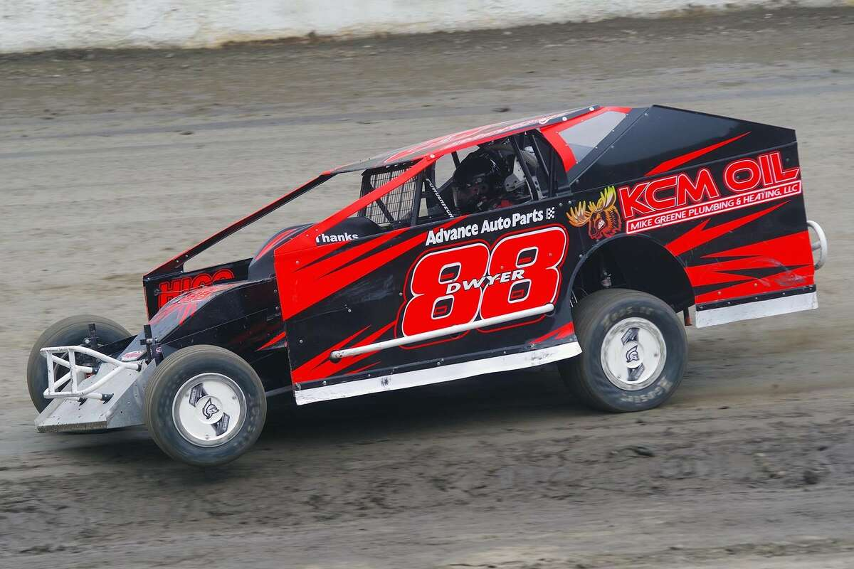 Olden Dwyer is gaining lots of experience in his first year in the DirtCar Modified Series and also races at Fonda Speedway.