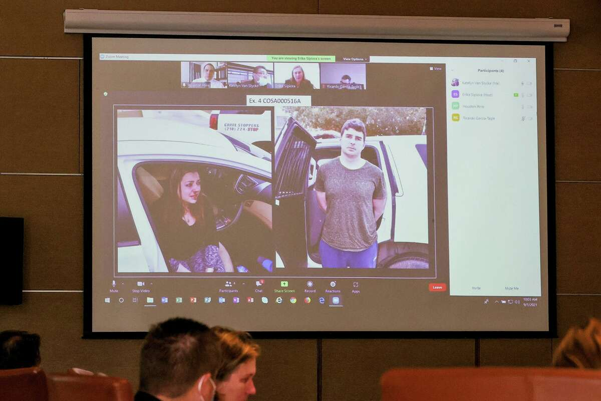 Photos taken at the scene of fired San Antonio Police Detective Daniel Pue's arrest in January 2019 were presented Wednesday during the second day of testimony in an arbitration hearing to determine whether he will be reinstated.