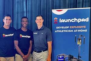 Co-founders of Launchpad (left to right): Jason Abromaitis, Yale men's basketball player Jalen Gabbidon and Doug Goldstein.