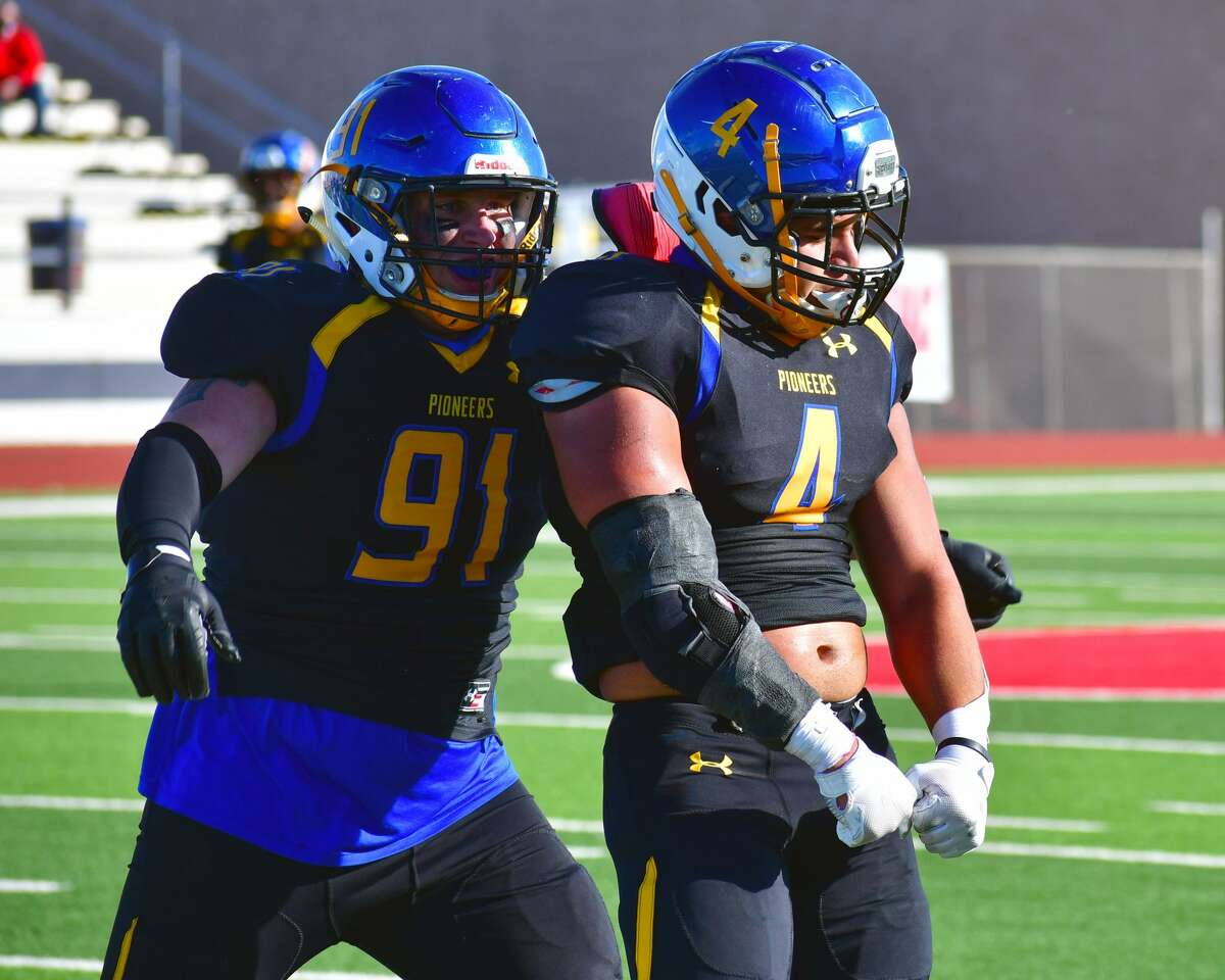 Manny Arguijo (4) and William Humphrey are two of the key returners for the Wayland Baptist football team as the Pioneers open the 2021 season Saturday against Hardin-Simmons.