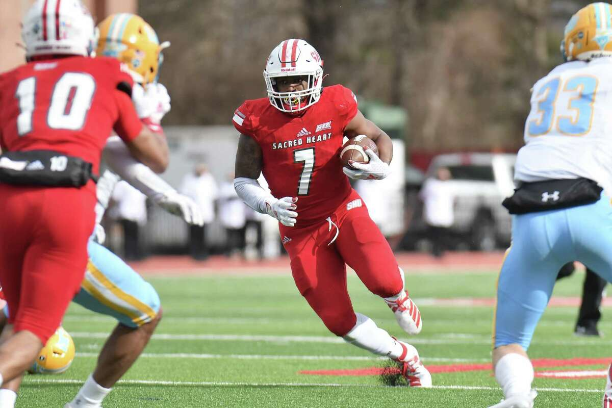Julius Chestnut, a senior running back at Sacred Heart, rushed for 855 yards in five games last season, leading FCS at 171 yards per game.
