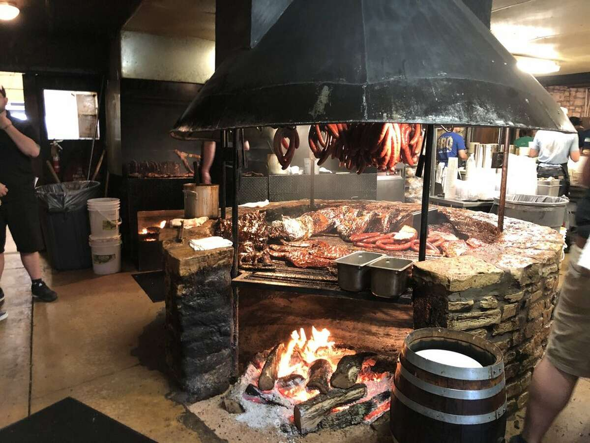 A fine and tasty view of The Salt Lick's iconic pit.