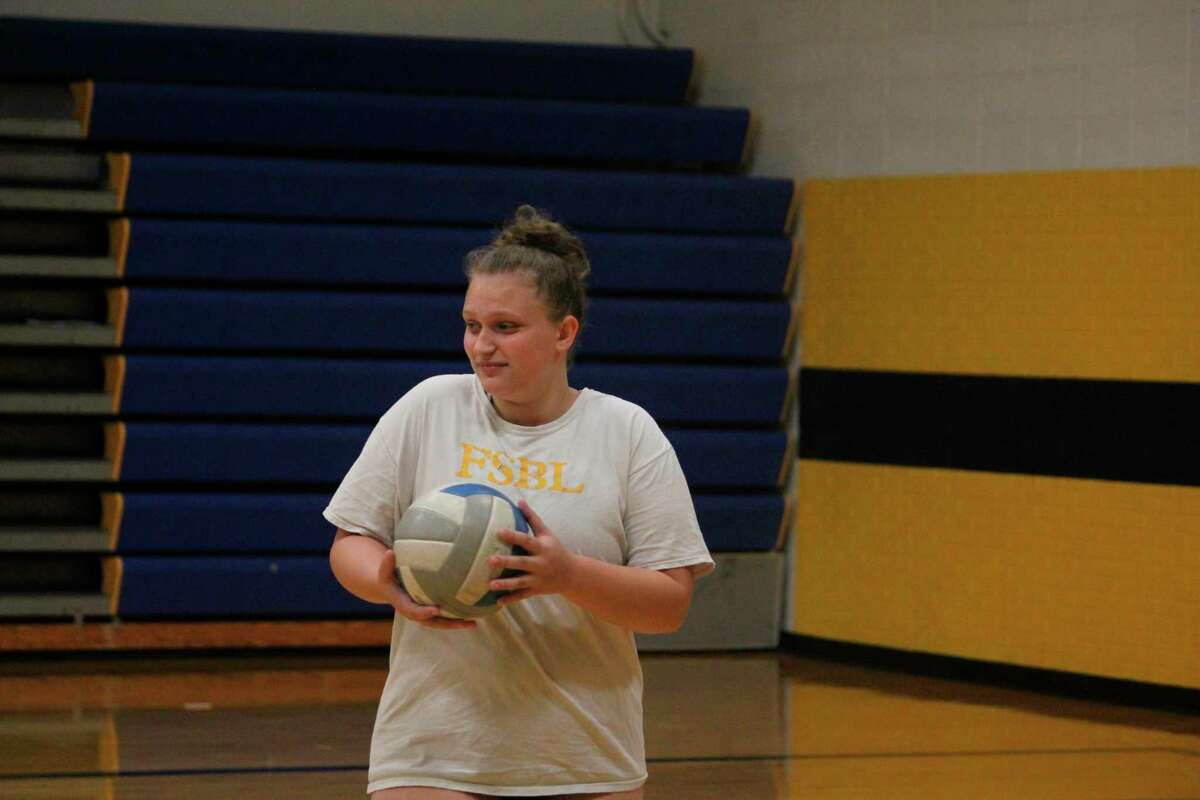 Baldwin's Amber Oisten participates in a volleyball practice on Wednesday. (Star photo/John Raffel)