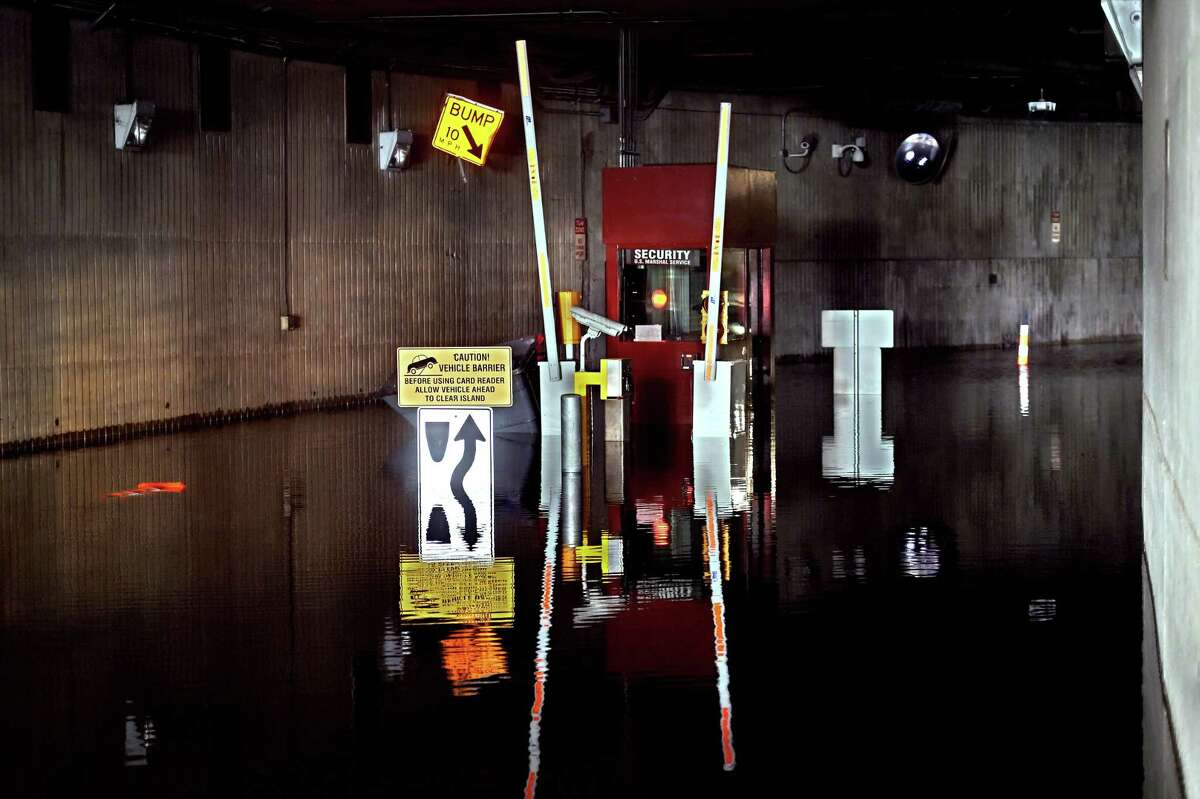 Standing water from the remnants of Hurricane Ida closed the Pitkin Tunnel in New Haven on September 2, 2021.