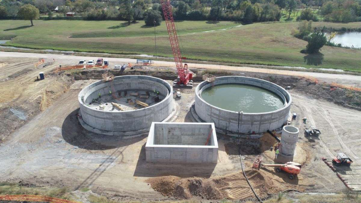A proposed utility rate increase for the city of Pearland would go to help fund a planned surface-water treatment facility, shown here in an 2020 photo.