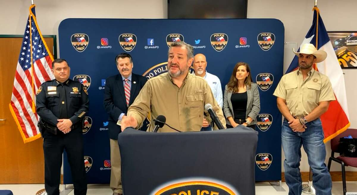 Senator Ted Cruz spoke about security regarding the border with city officials at the Laredo Police Department on Wednesday.