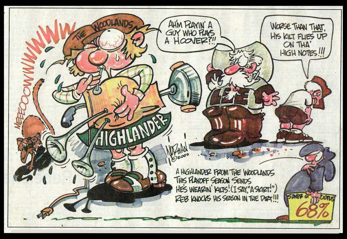 Lee vs. Woodlands in 2000--One last look back at the Lee High School era through Cartoonist Norman Johnson's pen.