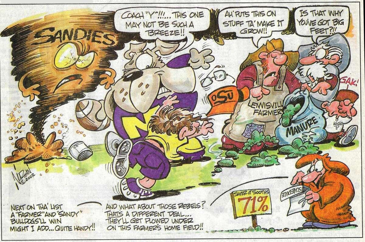 Lee vs. Louisville in 2002--One last look back at the Lee High School era through Cartoonist Norman Johnson's pen.