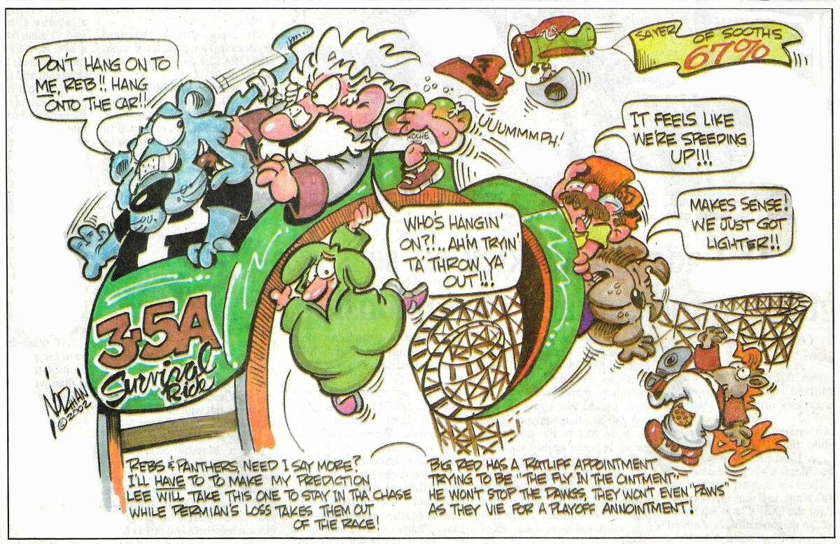 One last look back at the Lee High School era through Cartoonist Norman Johnson's pen.