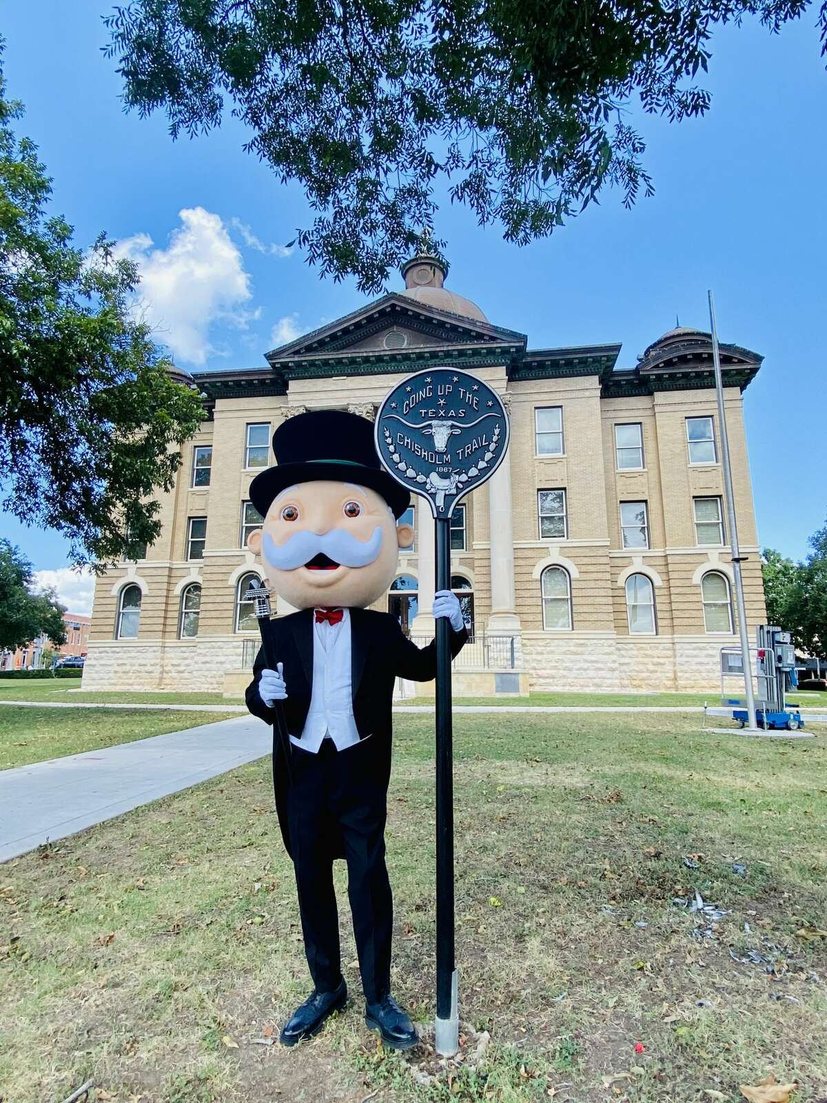 Mr. Monopoly takes the Texas Hill Country by storm.