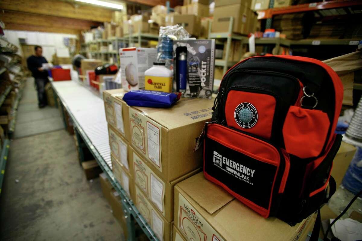 Emergency preparedness products are displayedbefore being packedintokits at aUtahstore in2006. September is National Preparedness Month.(AP Photo/Steve C. Wilson)